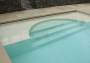 Swimming Pool Arch Steps